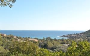 Tarco: A 300m. de la plage à pied et dominant la mer, Terrain à bâtir VIABILISÉ disposant d'une SUPERBE VUE MER PANORAMIQUE.